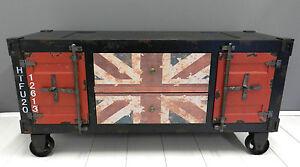 Mobile porta tv ,tavolino con ruote,Union Jack,moderno,vintage ...