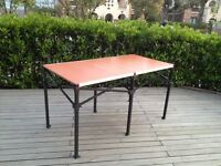 6ft Pop Up Table 68x3434 Folding Table Desk W/ Roller Bag