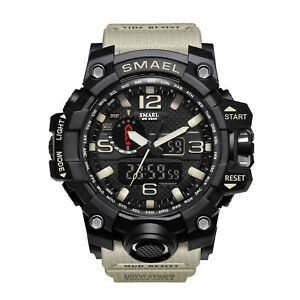 Men-039-s-Shockproof-Military-Digital-Wrist-Watch-Sport-Quartz-Analog-LED-Waterproof