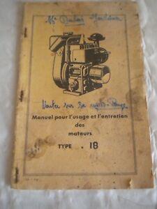 Details about vintage Stationary engine instruction + service manual  Bernard Moteurs type 18