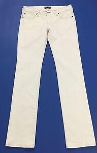 Armani-jeans-donna-usato-W28-tg-42-slim-bianco-straight-fit-boyfriend-T1869