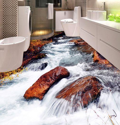3D Bel Crique Fond d'écran étage Murale Peint en Autocollant Murale étage Plafond Chambre Art fbf4ad
