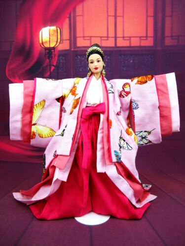 Japan Chinese Butterfly Kimono Dress Coat Fits Silkstone Barbie Fashion Royalty