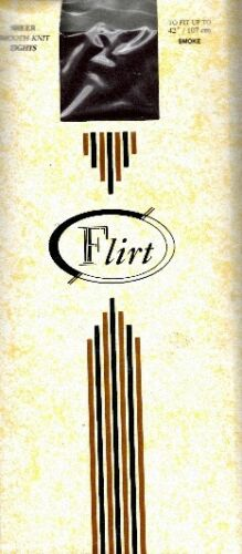 Flirt Plain Knit 10 denier One Size Tights in Smoke