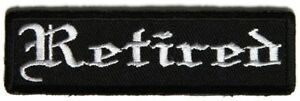 BIKER-Leather-Vest-PATCH-039-RETIRED-039-SEW-IRON-MOTORCYCLE-MEN-039-S-SHED