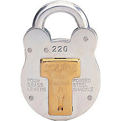 Henry Squire Old English Galvanised Steel Case 4 Lever Padlock Small
