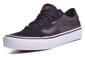 bee83e317683 Vans Style 112 Pro Men s Black Mole Canvas Suede Skateboard Shoes ...