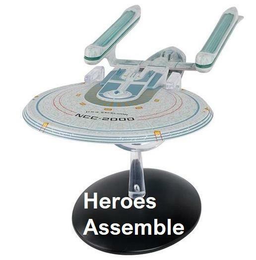 EAGLEMOSS Star Trek USS Excelsior NCC-2000 ASTRONAVE SPECIALE XL Mega