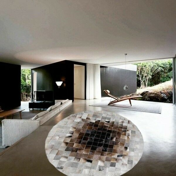 New New New Cowhide Rug Leather. Animal Skin Patchwork Area Carpet. 5498a4