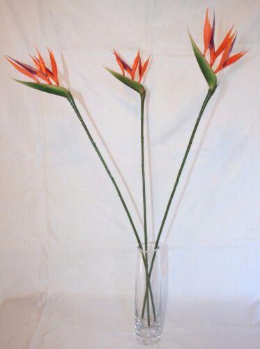 Petit oiseau de paradis Tiges 66 cm long fleurs artificielles