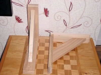 165 mm x 200 mm Pair Of Solid Wood Pine Gallows Wooden Shelf Support Brackets