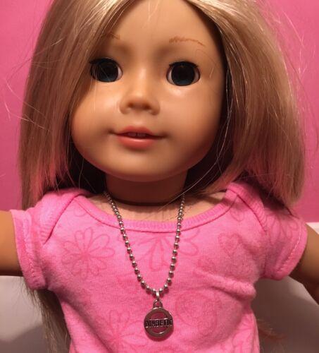 American Girl Doll Sz Necklace Diabetic Medical Alert Type 1 T1D 100/% Donation