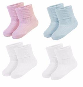New Pair Of Baby Boys Girls Turn Over Socks Newborn Premature Infant