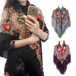 New-Women-Square-Printing-Shawl-Cotton-Retro-Oversize-Scarves-Casual-Gift