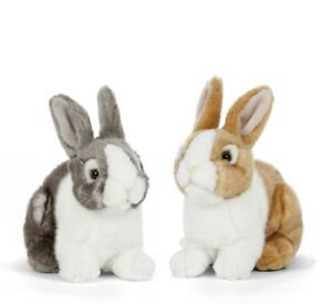 LIVING NATURE PET RABBIT - AN412 REALISTIC SOFT FLUFFY BUNNY STUFFED PLUSH TOY