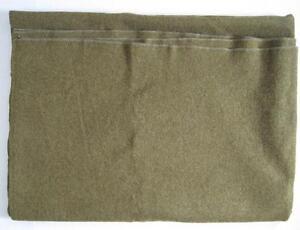 Vintage Korean War Army Military Blanket Olive Drab Green