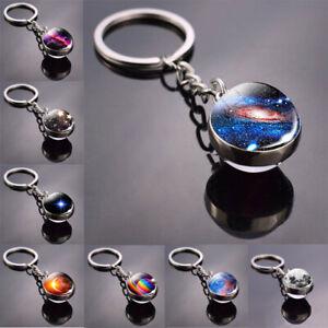 Solar-System-Planet-Keyring-Galaxy-Nebula-Space-Double-Side-Glass-Ball-Key-chain