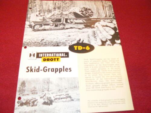 International Harvester TD-6 Drott Skid Grapples Dealer/'s Brochure