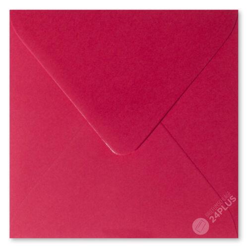 25x sobres feuchtklebend rosas rojo 10,0x10,0cm 100x100mm