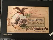 1888 Allen & Ginter Government And State Capitol Buildings Tobacco Card Album