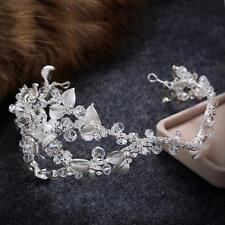 Astilla Nupcial Boda Diamante de Imitación de Cristal De Cabello Halo casco tocado de 1 piezas