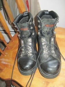 5efc8d8ed2ae Harley-Davidson Mens 10 M Barton Black Leather Motorcycle Boots Lace ...