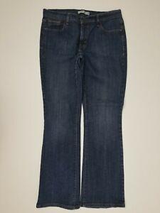 Levis-515-Boot-Cut-Mid-Rise-Dark-Wash-Distressed-Womens-Denim-Jeans-Sz-12-L31
