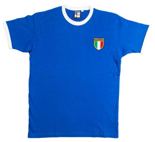 Retro Italy Italia Football T Shirt New Sizes S-XXXL Embroidered Logo