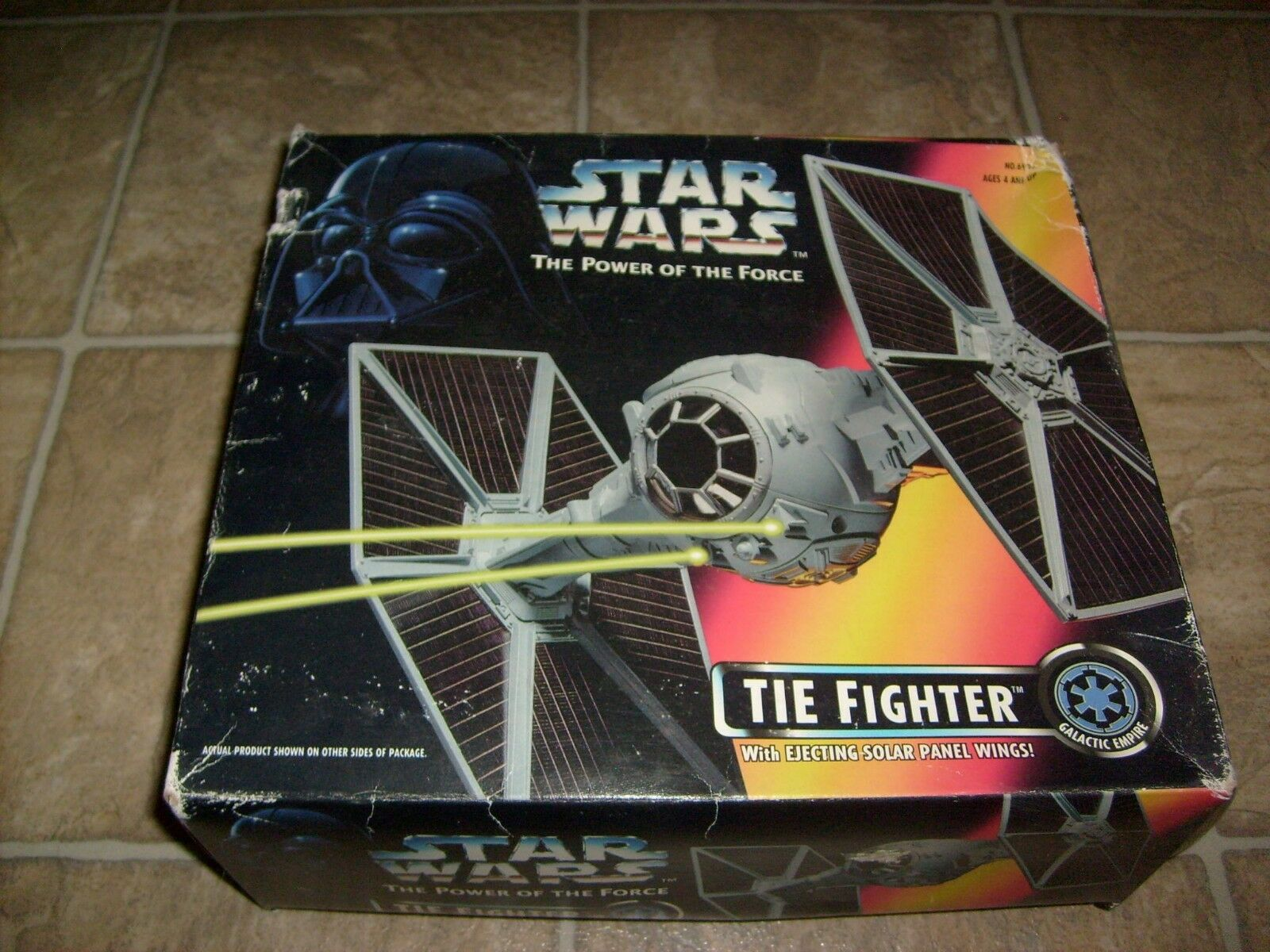 STAR WARS POWER OF THE FORCE TIE FIGHTER FIGURE VEHICLE SET NEW MIB