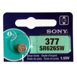 1 NEW SONY 377 SR626SW SR66 V377 watch battery FRESHLY NEW - USA Seller