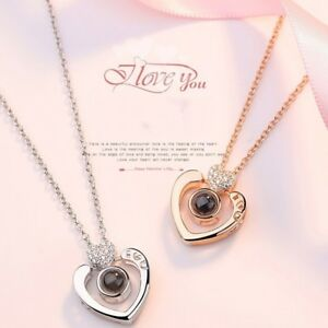 Subloom-100 Languages I Love You Pendant Necklace Heart Jewelry Gift for Women