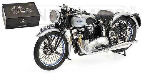 Minichamps TRIUMPH TIGER 100 1939 SILVER Color 1/12 Scale. New! In Stock!