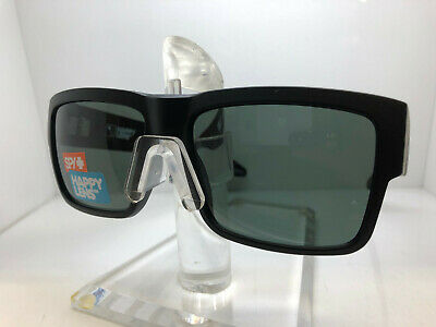 New Spy CYRUS-673180973864 Matte Black Happy Gray Green Polarized Sunglasses