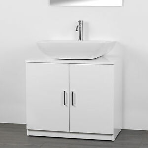Copricolonna universale bianco lucido 2 ante con maniglie sotto lavabo cm 70 ebay - Mobile sottolavabo ikea ...