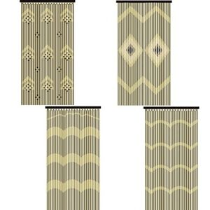 JVL-Provence-Wooden-Beaded-Door-Curtain-Beautiful-Hanging-Wooden-amp-Bamboo-Beaded