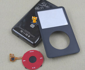 Red Faceplate Black Housing Back Case Red Clickwheel for iPod 7th Classic 160GB