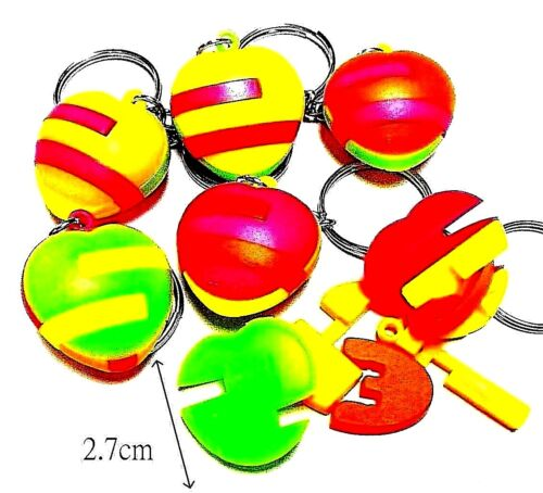 3pc puzzle block HEART key ring pinata bag filler birthday party favor carnival