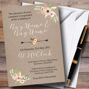 rustic vintage watercolour peach floral personalised wedding