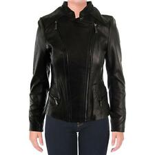 Elie Tahari 1984 Womens Delphine Black Motorcycle Jacket Outerwear XS BHFO