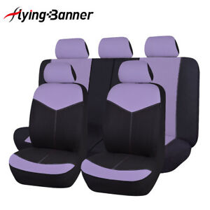 Universal-Car-Seat-Covers-Set-Purple-polyester-Washable-Fit-for-truck-Suv-Van