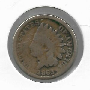 Rare-Antique-US-1863-Civil-War-Indian-Head-Penny-Collection-Cent-Coin-LOT-F25