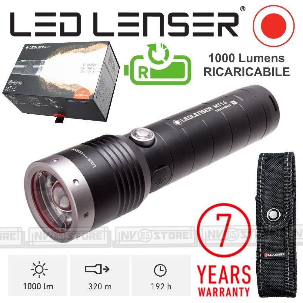 Torche Led Mt14 Flashlight Rechargeable Lenser 1000 LumensVrais dstChQxBr