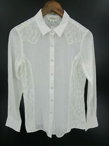 Ariat-Women-039-s-Lace-Detail-Pearl-Snap-Long-Sleeve-Fitted-Shirt-Size-S