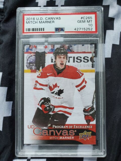 16-17 Upper Deck Series 2 Program of Excellence Canvas C265 Mitch Marner psa 10