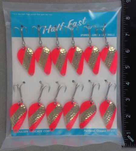 Brass Fire Stripe UV 26264 Stee-lee ONE Dozen Half-Fast Steelure 1//2oz Spoons H