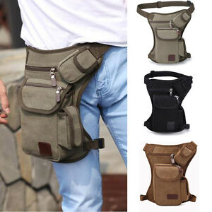 Image Is Loading Us Men Canvas Cycling Bike Hip Bag Sport
