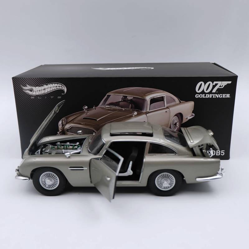 Hot wheels Elite 1 18 Aston Martin DB5 goldfinger JAMES BOND 007 BLY20 Diecast