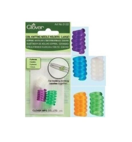 Clover Coil Knitting Needle Holders Easy Storage Set SELECT YOUR SIZE!