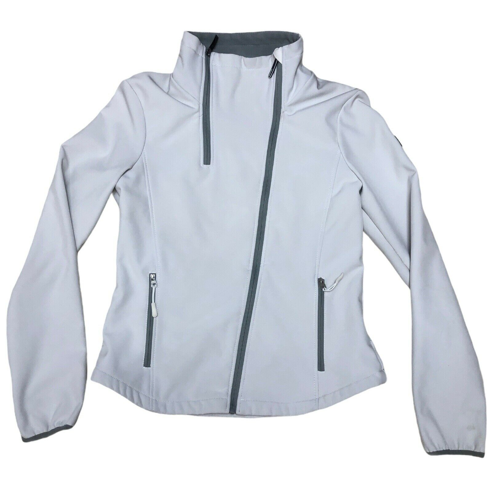 Bench Softshell Offwhite Ivory Jacket Fleece Lined Windproof Stretch Zip Large