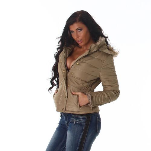 Piumino donna giubbotto giaccone cappuccio staccabile maniche lunghe nuovo